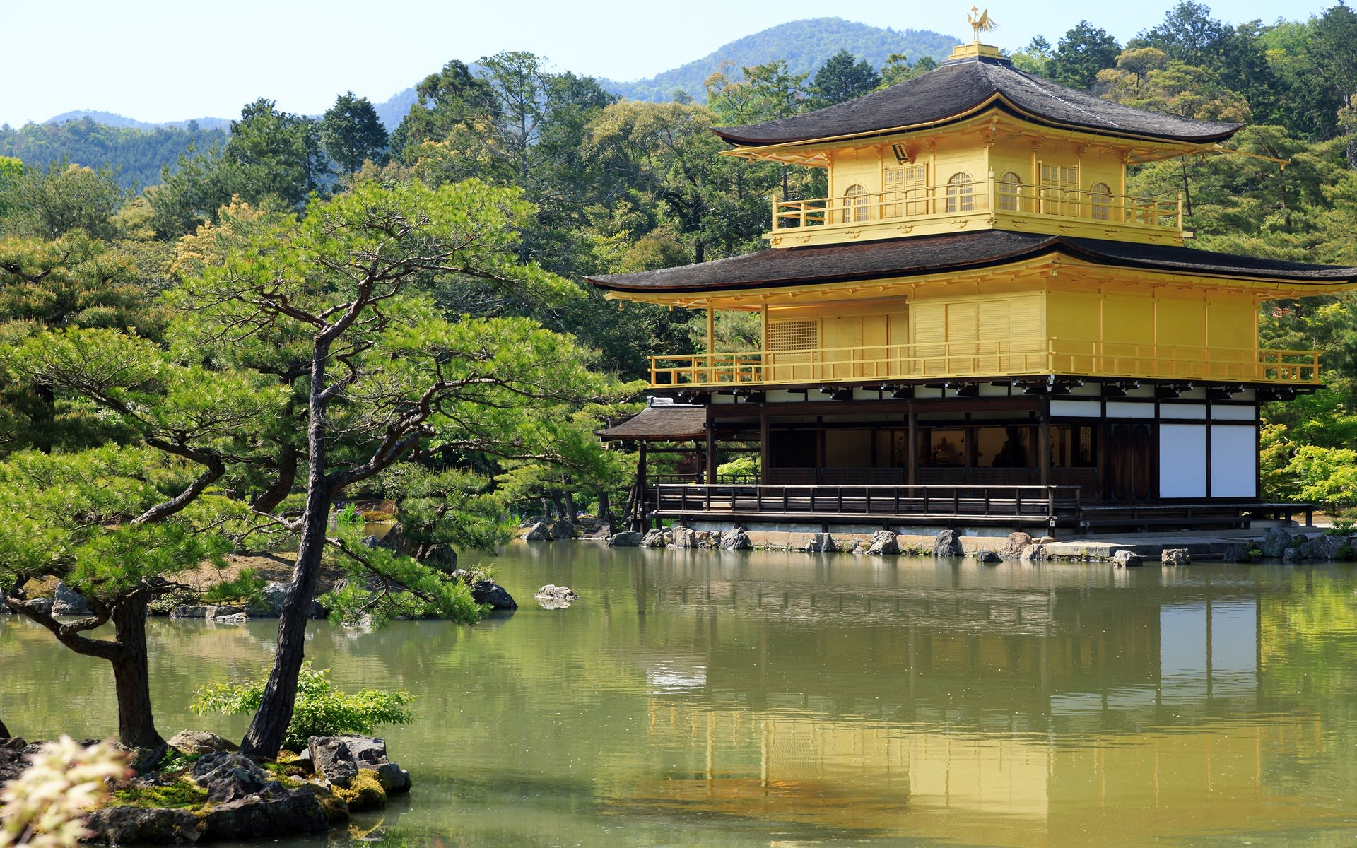 金閣寺の日本の景色の壁紙