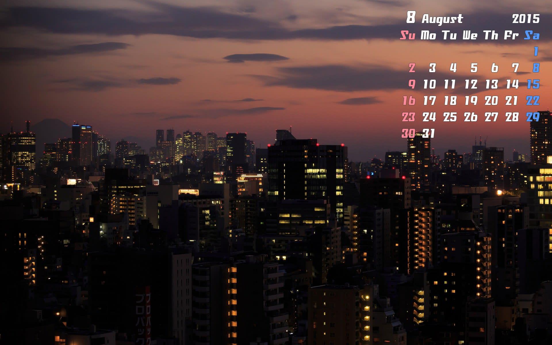 8月のカレンダー計10枚更新しました。