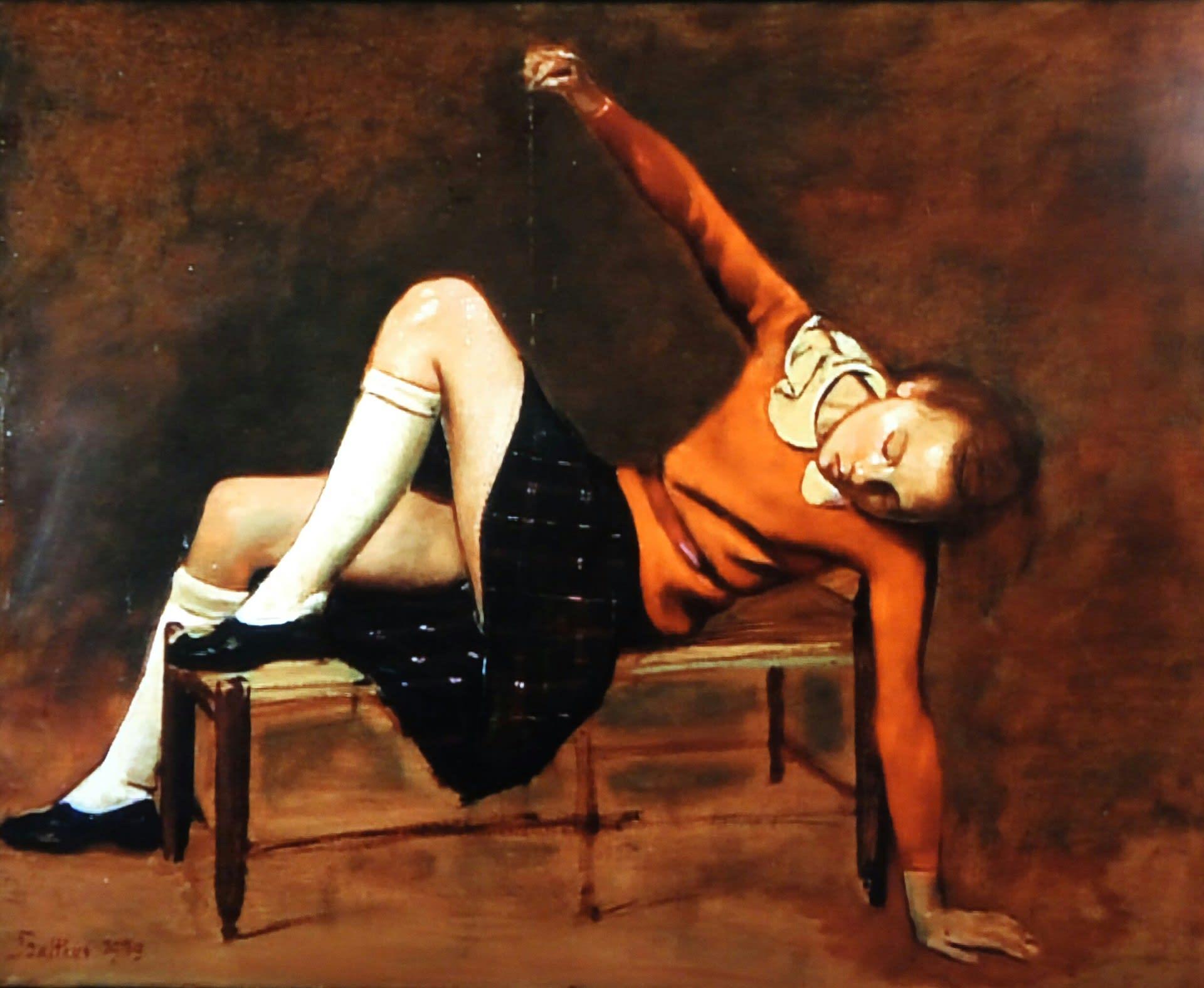 夢見るテレーズ 「美しい日々」1944-46 これも素晴らしい作品です。 夢見る少女の何気ない動作ですが、どこか魅力的です。