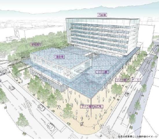 甲府市新庁舎計画イメージ図