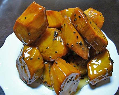 Japanese food recipes japanese glazed sweet potatoes recipe japanese glazed sweet potatoes recipe daigaku imo forumfinder Choice Image