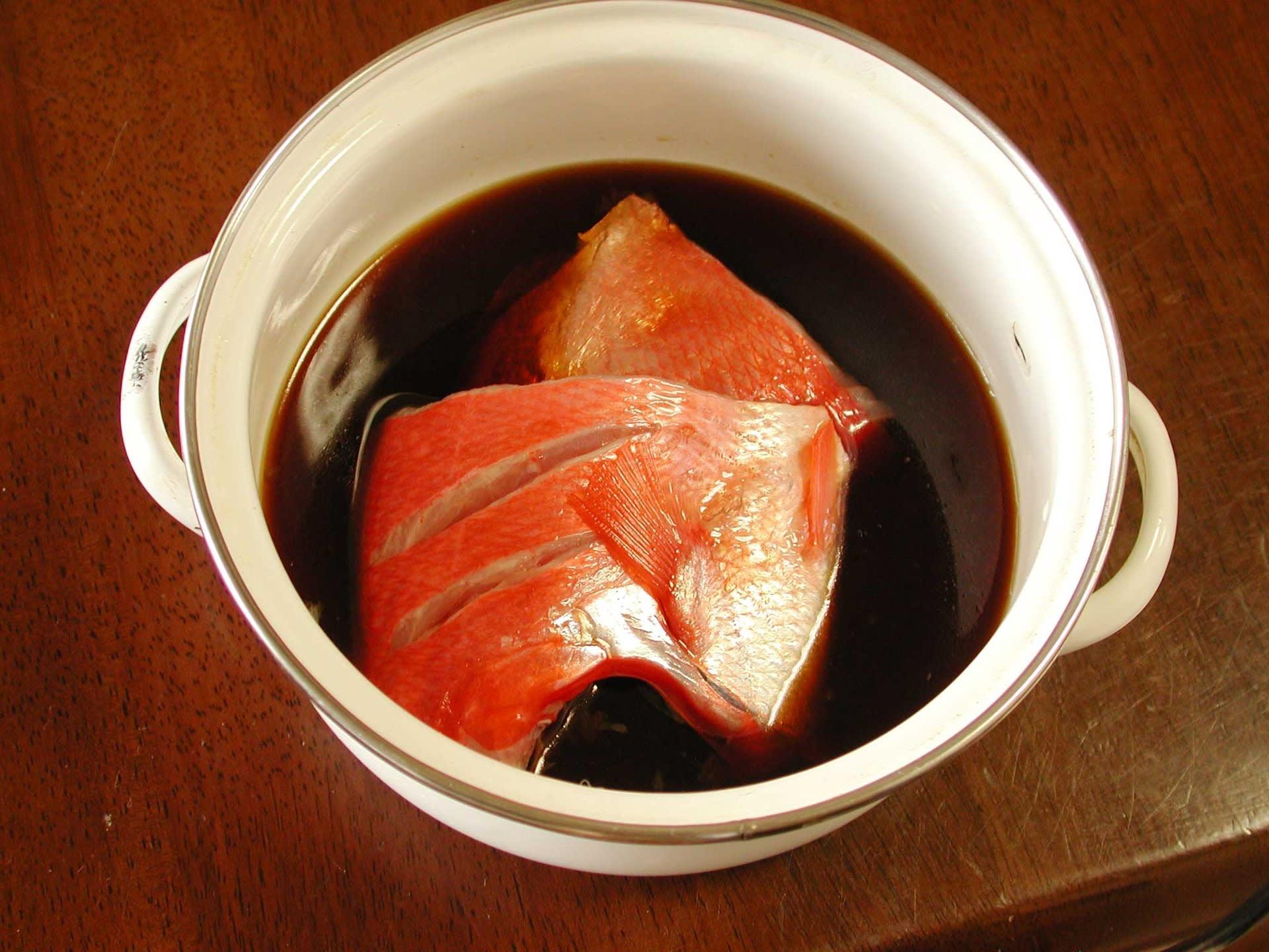金目鯛煮付けレシピ1