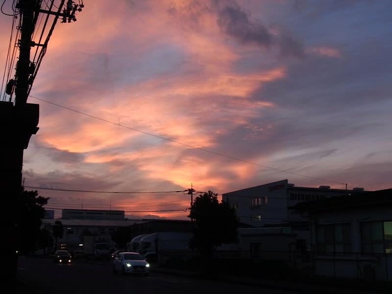 10月18日 夕焼け