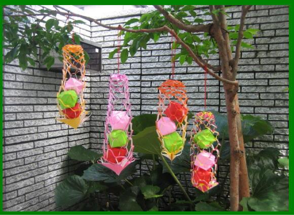 すべての折り紙 網飾り 折り紙 : 風鈴 & 昆虫 - 折紙・遊・楽 ...