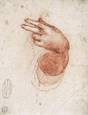 レオナルド・ダ・ヴィンチ 《受胎告知の天使のための左手と腕の研究》 15... 『レオナルド・ダ