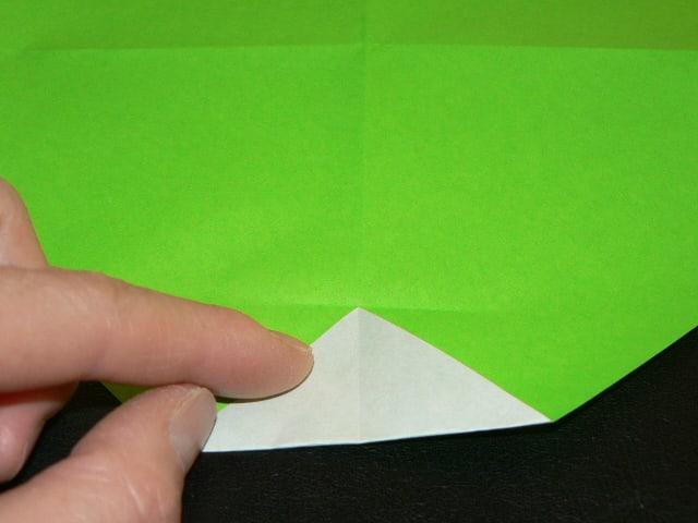 すべての折り紙 折り紙 風車 作り方 : ②次の作業のための折り線な ...