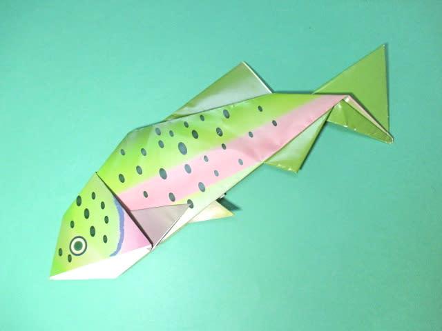 ハート 折り紙:魚の折り紙-divulgando.net