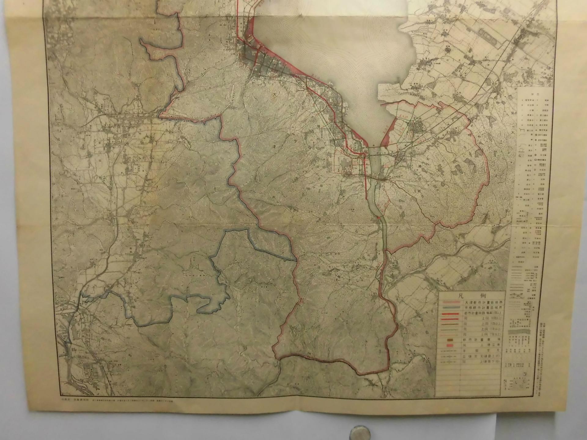 滋賀県全図 地形図仕上 大図 H1....