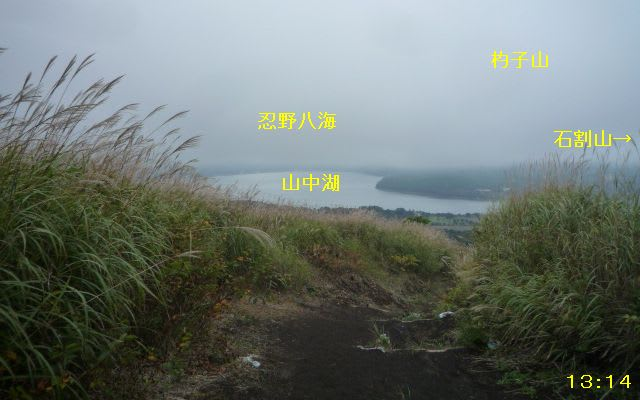 山中湖俯瞰