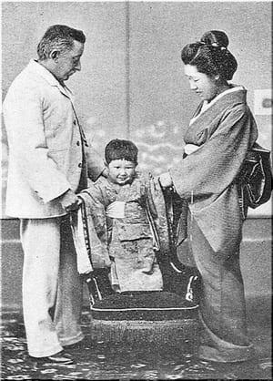 日本の心 《妻・節子と息子・一雄とともに》 1895  ▼『小泉八雲集』小泉八雲