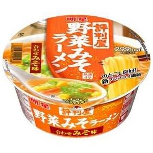 明星食品 評判屋野菜みそラーメン 合わせみそ味 84g 36個セット