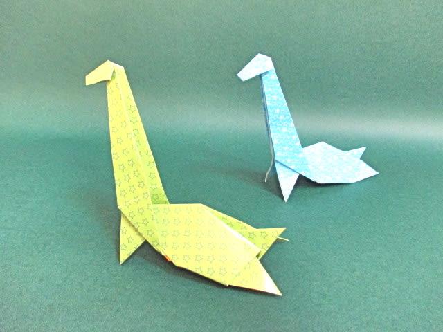 すべての折り紙 折り紙 梅 : 恐竜折り紙フタバスズキリュウ ...