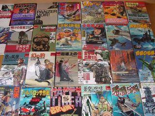 最近買ってないけど、戦記物漫画たくさん持っています。複数の作家が寄せている短編集はあたりはずれがあるんだけど、ま、仕方ないか。滝沢聖峰が一番好きだったが、