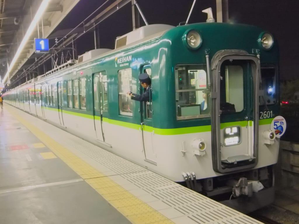 淀屋橋延伸50周年記念ヘッドマーク付き京阪2600系
