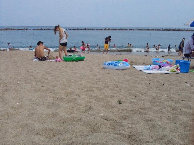 茨城の海で海水浴