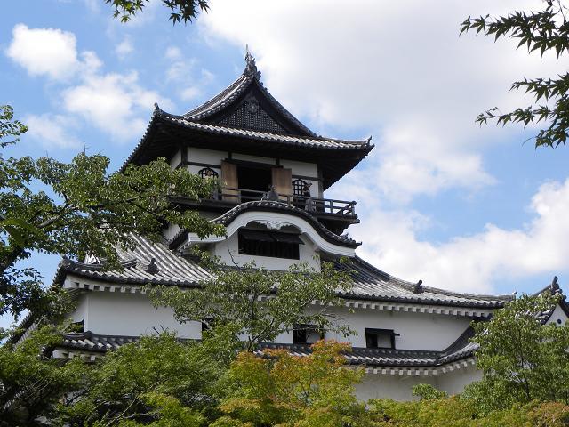 犬山城を境内から仰ぐ。 日本風の妻破風(そり破風)と唐風の破風(照り破...  日本の景観を探る