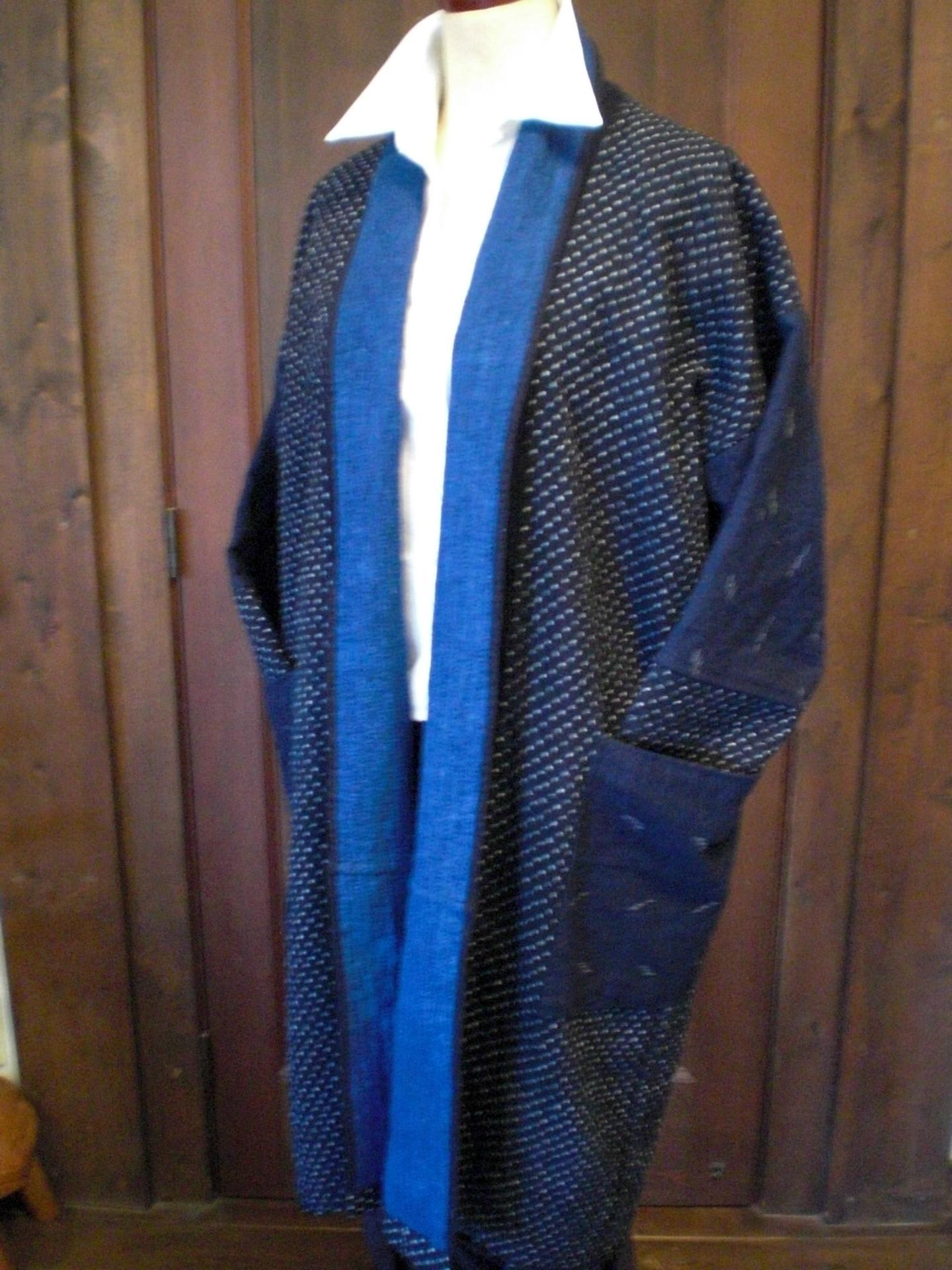 刺子コート2点できました。 - 古布リメイクアート「美映子の部屋」