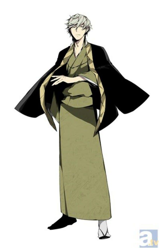 所属は武装探偵社 社長能力名 人上人不造(ひとのうえにひとをつくらず) 着物に羽織姿の冷静沈着な社長。『異能開業許可証』に尽力してくれた夏目 漱石を心酔している。