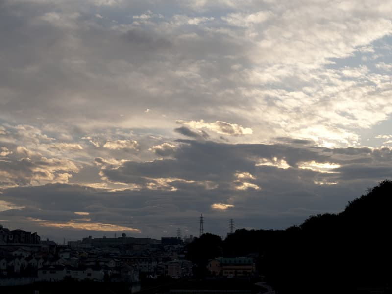 10月26日 夕陽