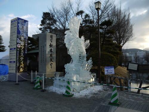「第25回国宝松本城氷彫フェスティバル」鯱の氷彫
