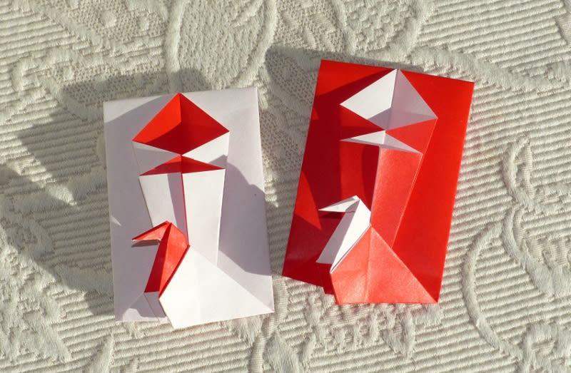 すべての折り紙 ぽち袋 折り紙 : 折り紙 ~箱にもなる鶴付き ...
