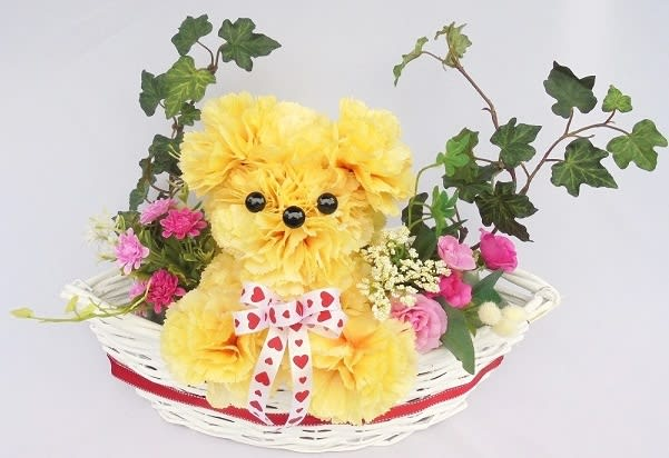母の日 プレゼント 贈り物 造花カーネーション アニマルアレンジ