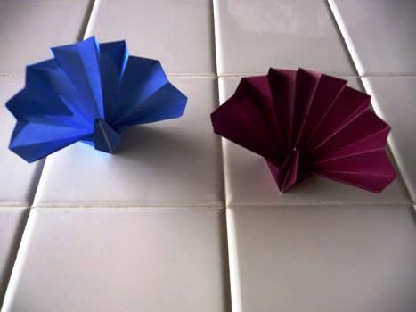 簡単 折り紙 : 折り紙 孔雀 折り方 : blog.goo.ne.jp