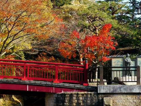 有馬温泉の紅葉 ねね橋