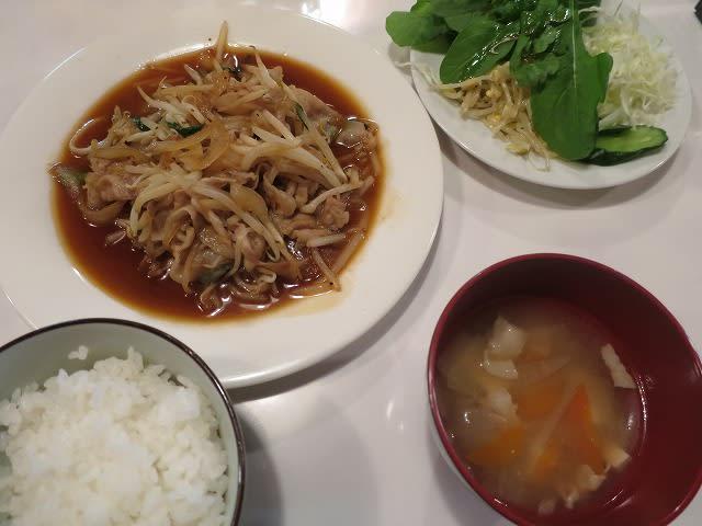 バラと野菜のピリ辛炒めセット