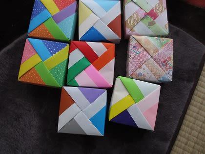 折り方 折り紙四角箱折り方 : またまた折紙 - ミレイの趣味 ...