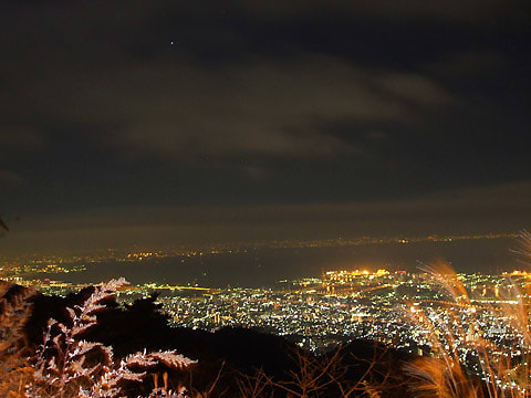 六甲山鉢巻展望台の夜景
