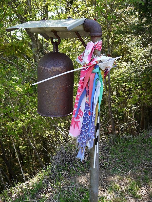 玉置山山頂に鐘が有りました