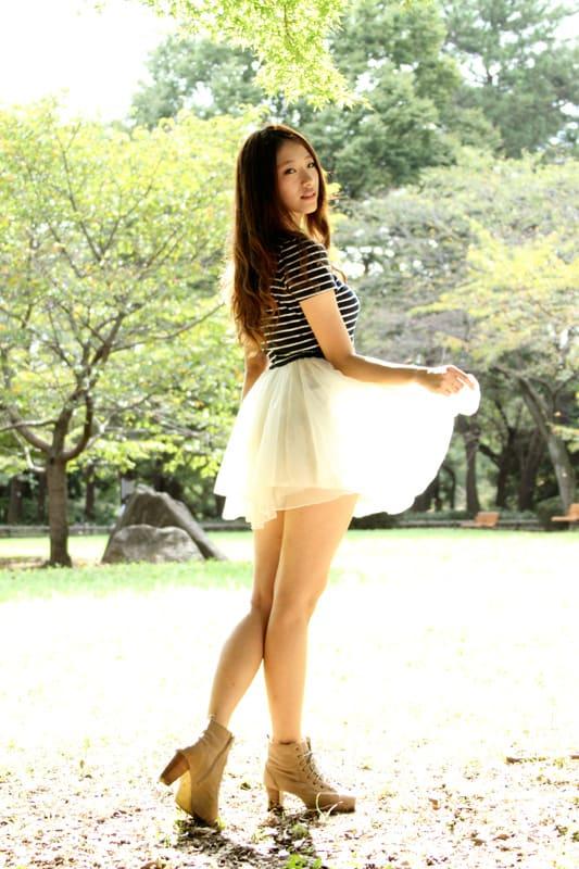 ふわりとしたスカートがカワイイ染谷有香