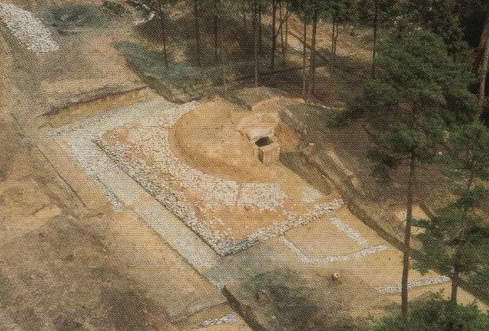 発掘時の航空写真