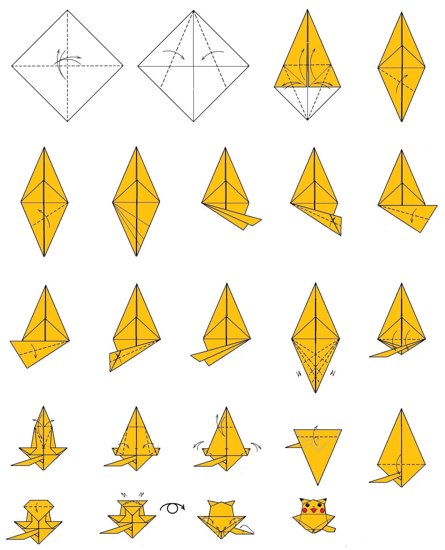 折り紙のピカチュー - おもちゃ ...
