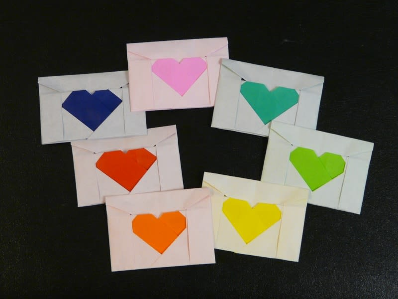 すべての折り紙 折り紙 メッセージカード : 折り方付】折り紙でハートを ...