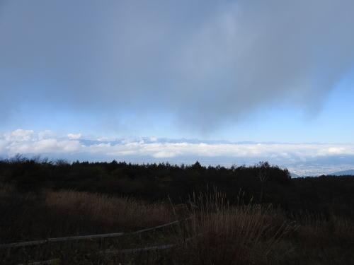 高ボッチ高原駐車場から撮影した北アルプスの山並