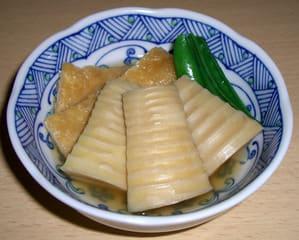 淡竹と油揚げの煮物