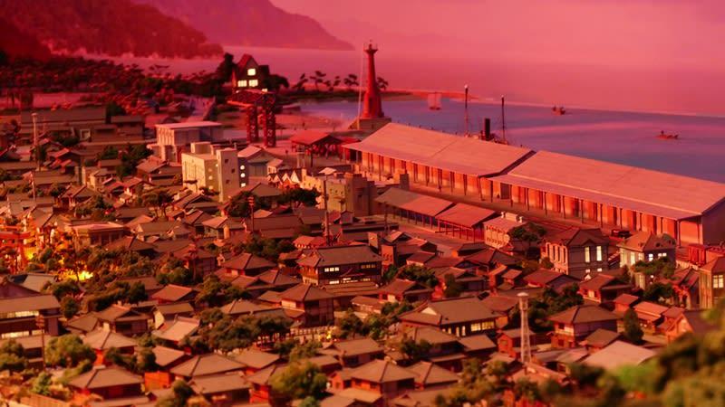 夕暮れの敦賀(ジオラマ)