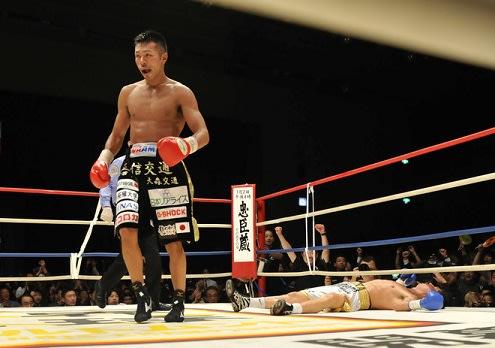 WBAスーパーフェザー級王座統一戦正規王者の内山高志選手(Takashi... 内山高志対ホルヘ