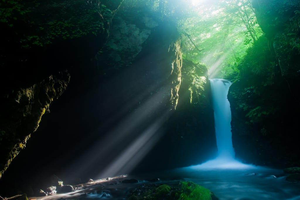 竜返しの滝の写真