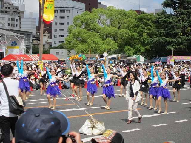 広島なぎさ中学校・高等学校バトン部・・・Small Flowers 隣接... ⑦ フラワーフェ