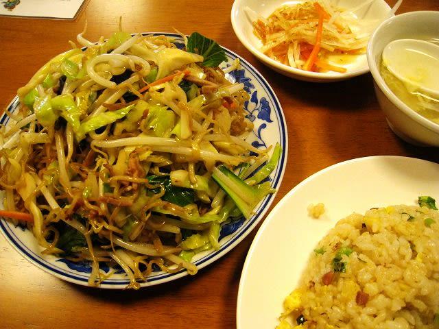 香港風焼きそばミニ炒飯ランチ