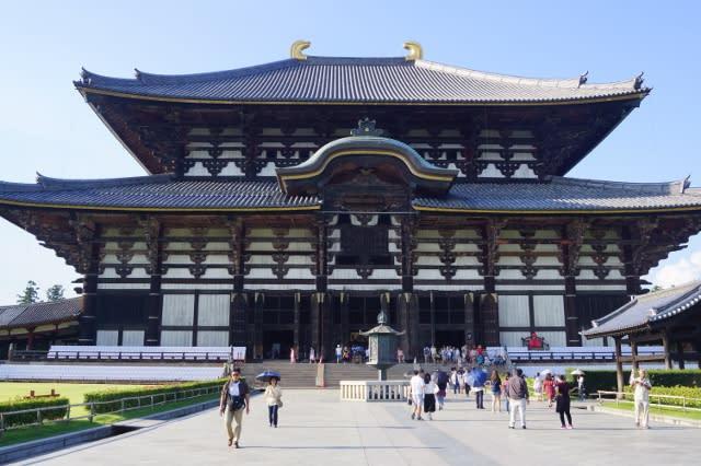 奈良東大寺の「大仏殿」に行ってきました〜(^^)