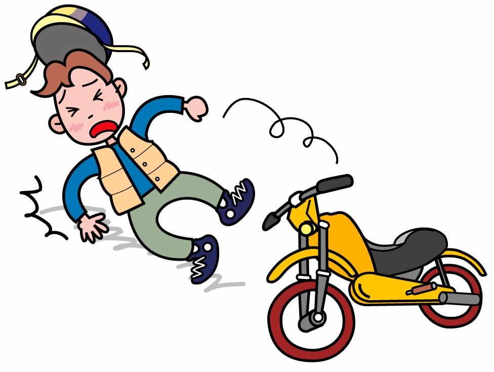 「バイク 転倒 イラスト」の画像検索結果