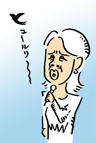 森昌子の似顔絵