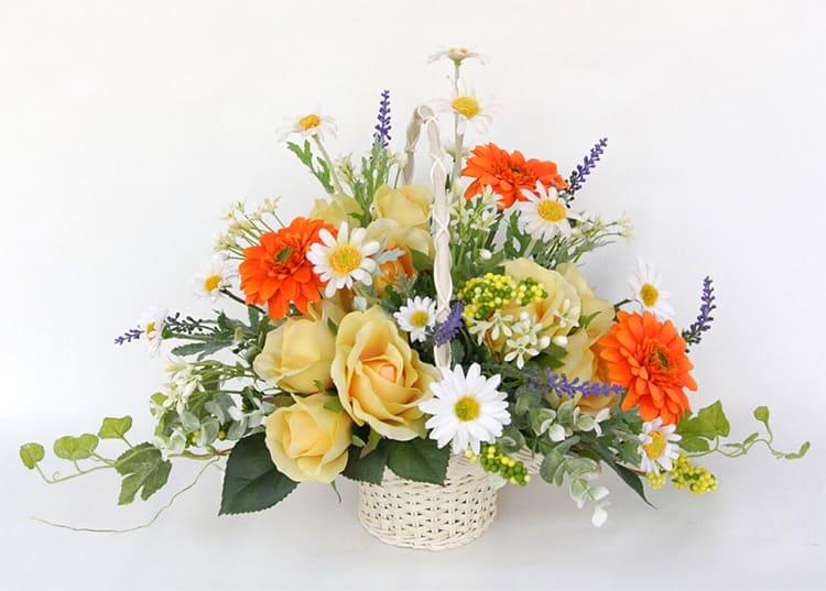 花籠 バスケット 造花