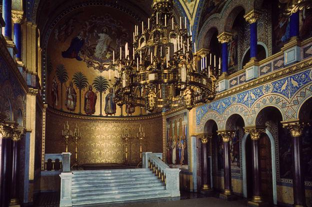 ドイツのノイシュバンシュタイン城の内部高画質画像。