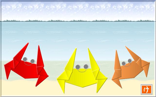 すべての折り紙 折り紙 メガネ : 折り紙風 海の生き物 - やっと ...