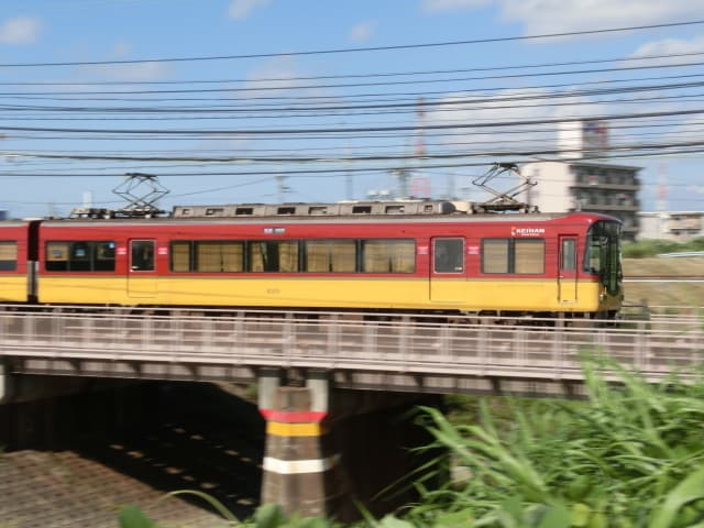 京阪8000系流し撮り